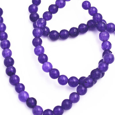 """New 4mm Russican Amethyst Gemstone Round Loose Beads 15"""" AAA"""