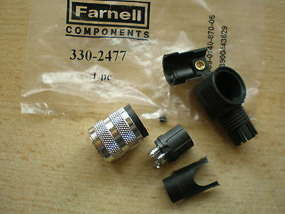 Circular Connector,Receptacle,5, Socket,Solder,Cable Mount Farnell 330-2477 Z583