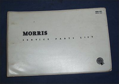 BMC Service Parts List, Morris GPO Quarter Ton Vans with GPO Mini-Van supplement