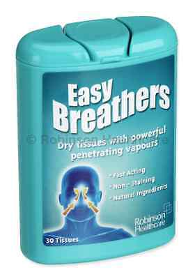 Triple Pack Easy Breather Tissues for Cold & Flu (90 Tissues) Handy Carry Pack