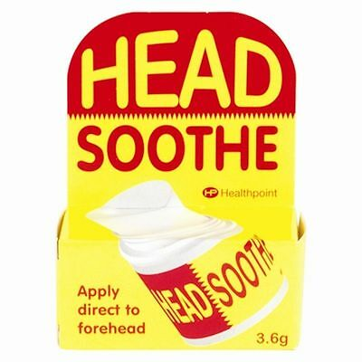 Head Soothe Stick 3.6g Headaches Migrane Cool Relief Temple Balm