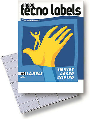 Inapa Tecno Labels Labels DIN-A4 100 Sheets in white