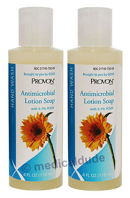 Provon 4oz Antimicrobial Lotion Soap Piercing Care 0.3% PCMX Gojo 4301-48 (Qty2)