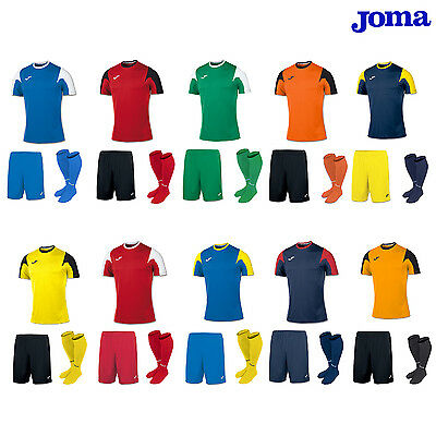 JOMA ESTADIO LONG & SHORT SLEEVE FOOTBALL TEAM KIT ADULTS small,medium,large,x/l
