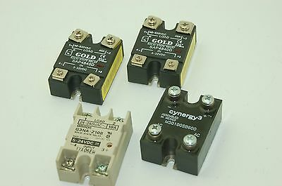 Omron, Gold, Cynergy3 Solid State Relays, G3NA-210B, SAP4840D - Lot of 4 (amm)