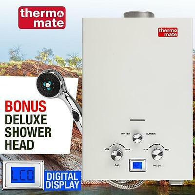 Thermomate LPG Gas Hot Water Heater - Portable Outdoor Camping Shower 50 Degrees