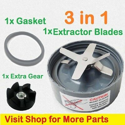 Replacement Cross Extractor Blade Spare Parts FOR Nutribullet 900w + Extra Gear