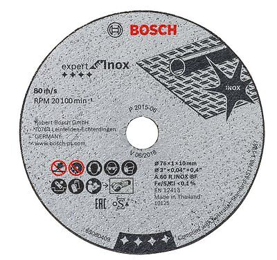 Bosch 5 x discs Expert for Stainless steel for MINI GRINDER GWS 10,8-76 V-EC