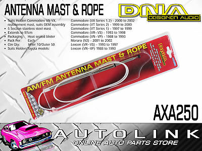 Dna Replacement Antenna Mast Suit Holden Commodore Vn Vp Vr Vs Vt Vx , Monaro V2