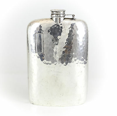 Elgin American Mfg. Co. Sterling Silver Hand Hammered Flask, c1950