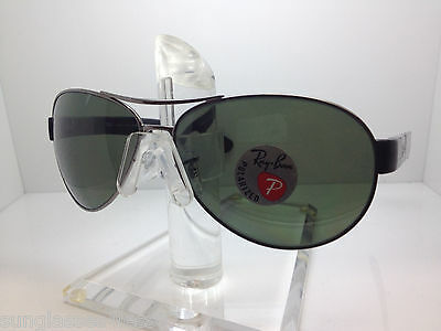 5ed9fb16809 AUTHENTIC RAYBAN Rb 3509 004 9A Ray Ban Rb3509 004 9A 63Mm Gun green ...