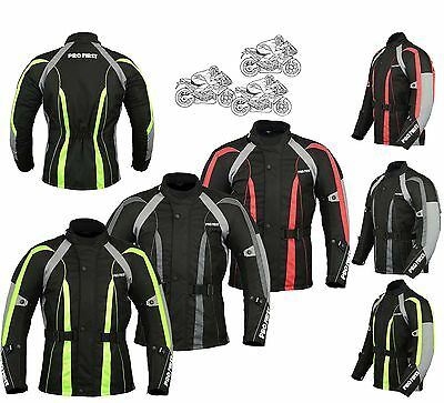 Mens Waterproof Motorbike Motorcycle Jacket Textile Cordura new CE Armour