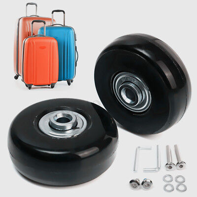 2 Set Luggage Suitcase Replacement Wheels Axles Rubber Deluxe Repair OD 50mm New