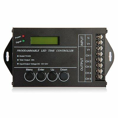 20A Programmable Timer Controller DC12-24V LED RGB/ Single-Color Streaks DW