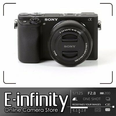 NUOVO Sony Alpha a6300 Mirrorless Digital Camera with 16-50mm Lens Black