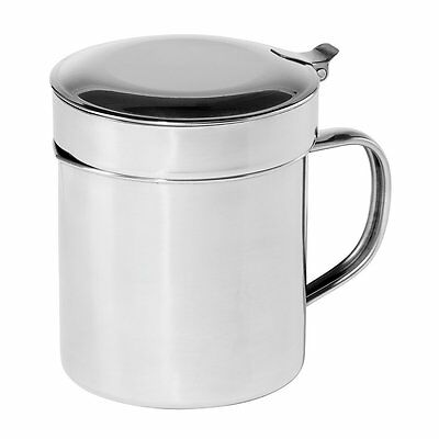Oggi 7324 Stainless Steel Grease Can with Removable Strainer, 1-Quart (5035) AOI