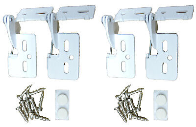 """4 Self Closing Hidden Concealed Cabinet Hinge 5/16"""" Overlay White Youngdale #5"""