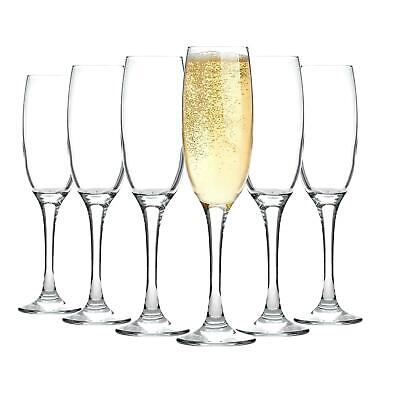 Champagne Flutes Wine Glasses Glass Dinner Toast Wedding 220ml x6
