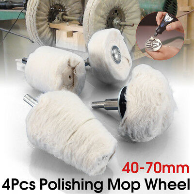4x Polishing Buffing Pad Mop Wheel For Manifold Aluminum Chrome Stainless Steel