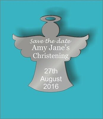 New Personalised Save The Date Christening Fridge Magnets (or baby shower)