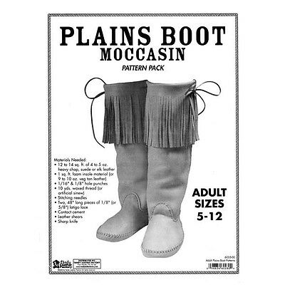 Adult Plains Boot Moccasin Pattern Pack 6035-00