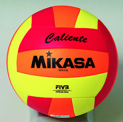 Mikasa VXS-CA Outdoor Volleyball (Red/Orange/Lime)