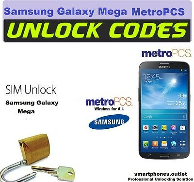Get Unlock Code MetroPCS Samsung Galaxy Exhibit Light Avant Mega Metro Pcs USA