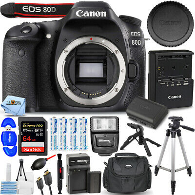 Canon EOS 80D DSLR Camera Body PRO BUNDLE W/ 1 Yr Warranty BRAND NEW!!