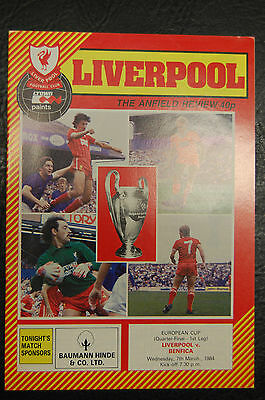 Liverpool V Benfica 1983/84  European Cup Winning Season