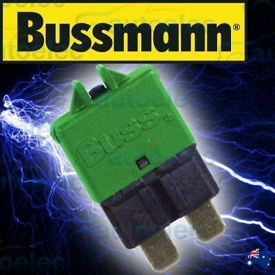 Bussmann Circuit Breaker Replaces Standard Blade Fuse Battery 30A Amp 12V 22730