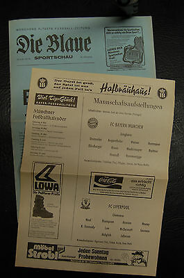 Bayern Munich V Liverpool 1981  European Cup Semi-Final - Die Blaue Issue