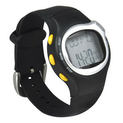 New Sport Pulse Heart Rate Monitor Calories Counter Fitness Wrist Watch Black DW