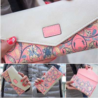 Women Lady Leather Clutch Wallet Long PU Card Holder Purse Handbag US