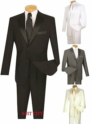 Men's Formal Tuxedo Prom Wedding Groom Suit Classic Fit Two Buttons Four Colors