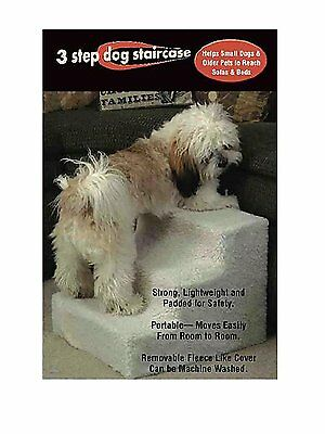 Pet Stairs 3 Steps Stairs Small Dog Cat Step Pet Ramp Ladder by JSNY NEW
