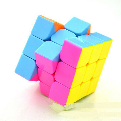 New ABS Smoothly Professional Speed Rainbow Cube Puzzle Twist Magic Toy Child