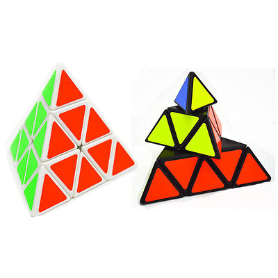 Triangular Pyramid Magic Cube White 3×3 Triangle Pyraminx Twist Puzzle Toy Game
