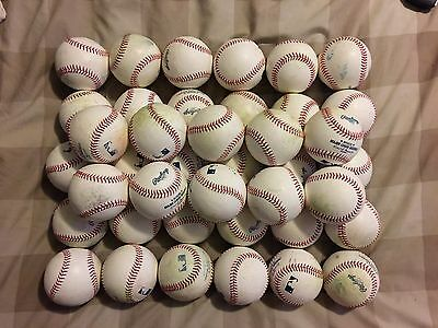 Official Rawlings MLB Batting Practice Baseballs From REAL Baseball GAMES!! LQQK