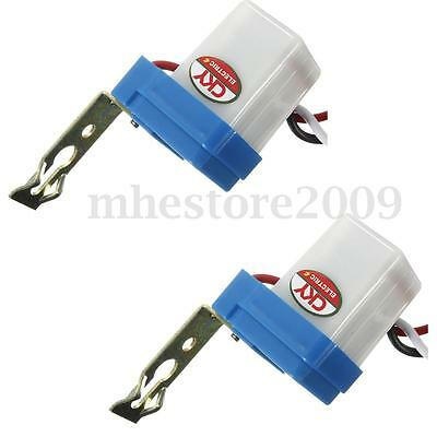 2Pcs Auto On Off Photocell AC DC 12V 10A Street Light Photoswitch Sensor Switch