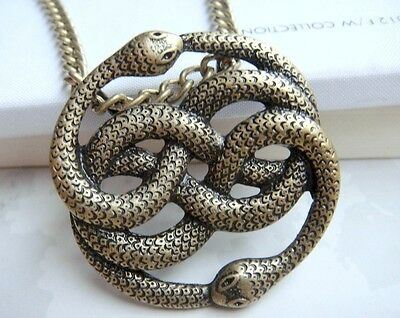 Auryn The Neverending Story Snake Steampunk Necklace Never Ending