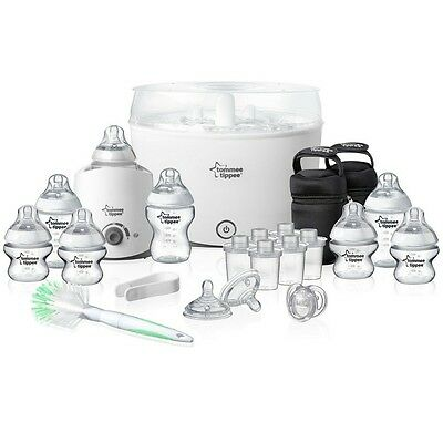Tommee Tippee Closer to Nature Electric Steam Steriliser Baby Bottle Bag Set Kit