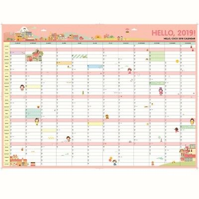 New 2017 Holiday Planner Wall Year Schedule Planner Calendar Organiser Chart Day