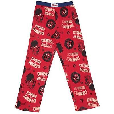 The Beano - Dennis And Gnasher Lounge Pants / Pyjama Bottoms - New & Official