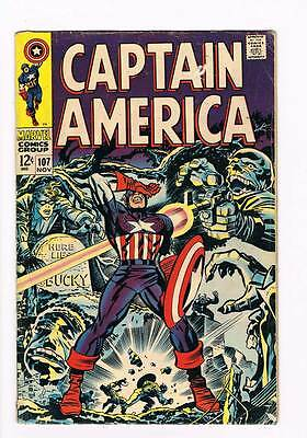 Captain America # 107 If the Past be not Dead grade 3.5 scarce hot book !!