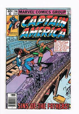 Captain America # 246 The Sins of the Fathers ! grade - 9.0 movie hot book !!