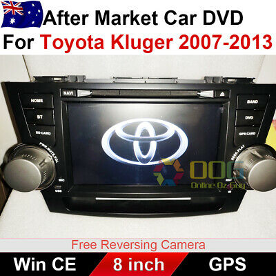 8.0 inch Car DVD GPS Navigation Head Unite Stereo For  toyota Kluger 2007-2013