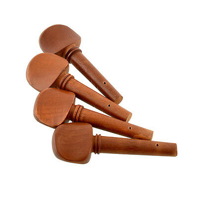 New 4PCS 4/4 Ebony Violin Jujube String Tunner Pegs Replace Brown Portable