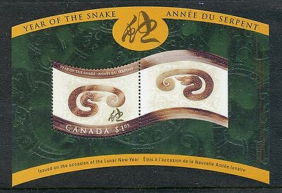 Canada 2001 Year of the Snake MS  MNH