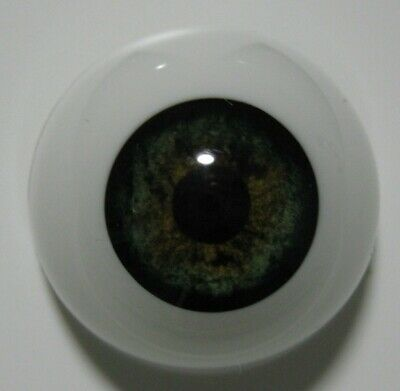 Reborn doll eyes 20mm Half Round  GREEN