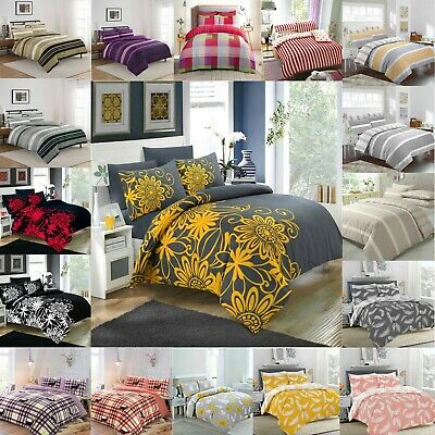 Duvet Cover with Pillow Case Quilt Cover Bed Sheet Set Single,Double In All Size